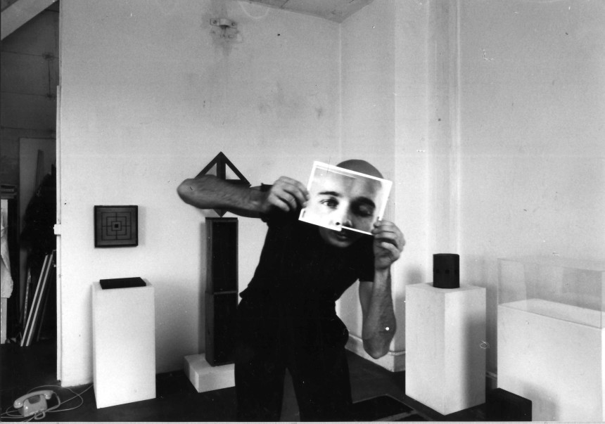 Im Atelier an der Südstrasse beim Gaswerk Schlieren, 1986