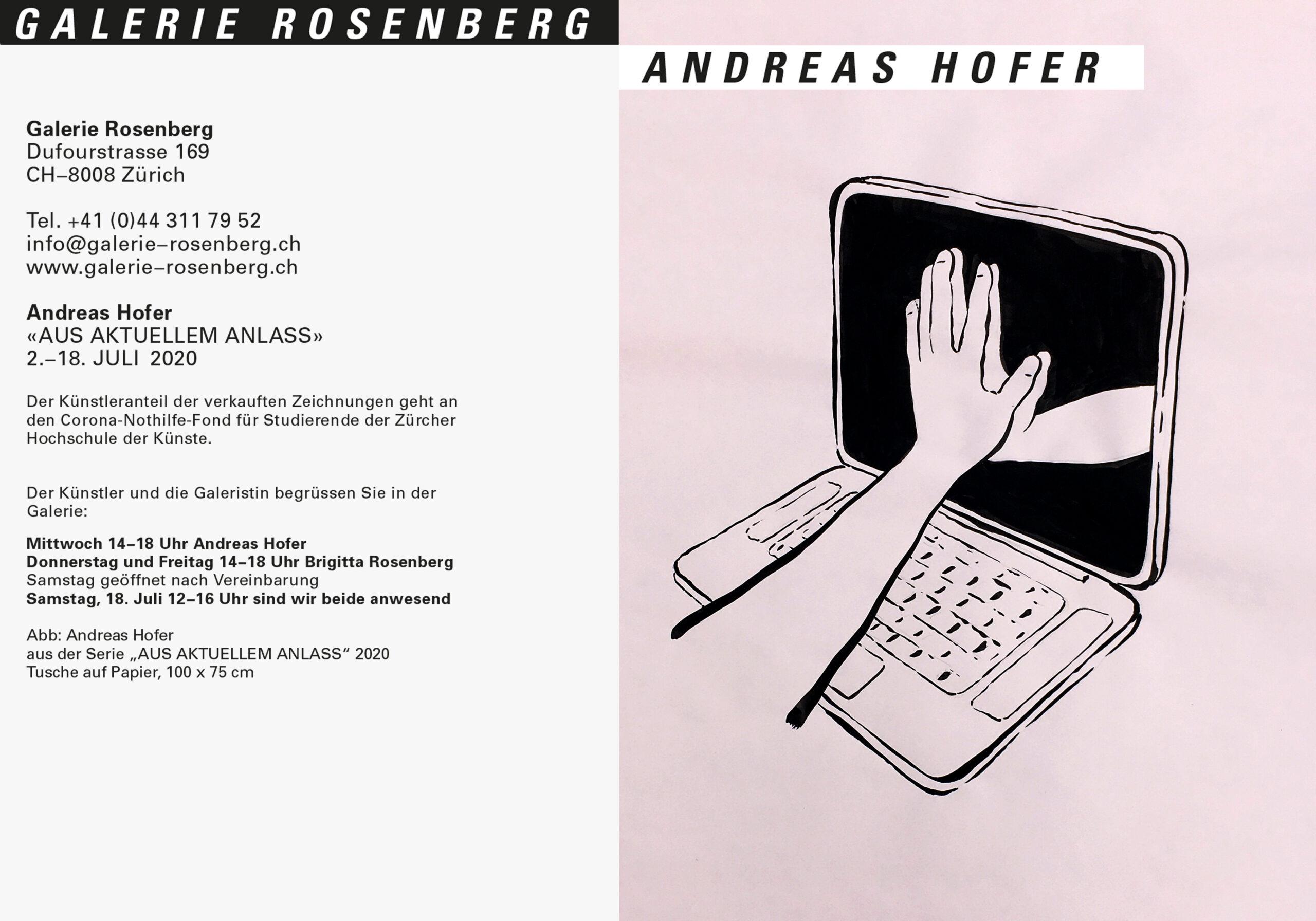 Galerie Rosenberg Zürich 2020